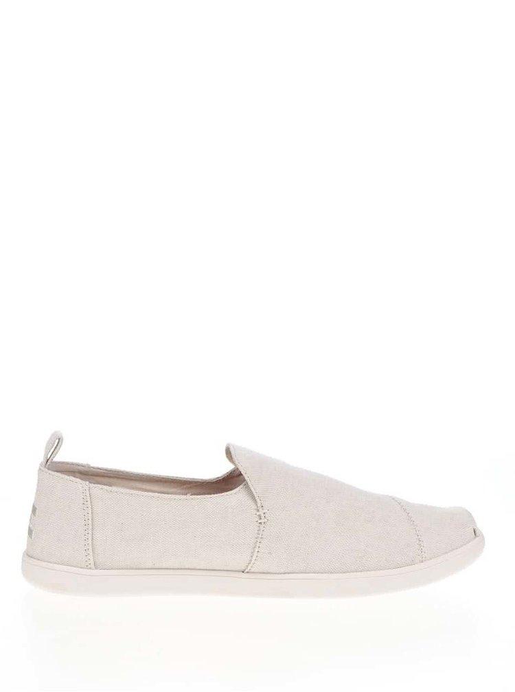 Krémové pánské loafers s výšivkou TOMS