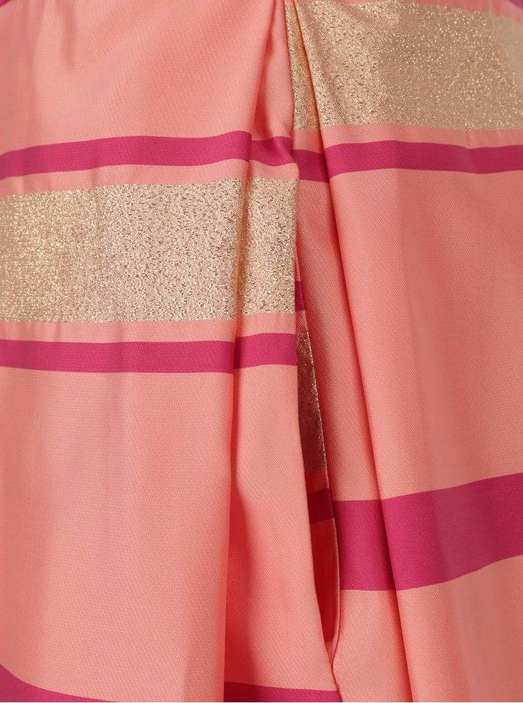 Fusta roz Closet cu model in dungi