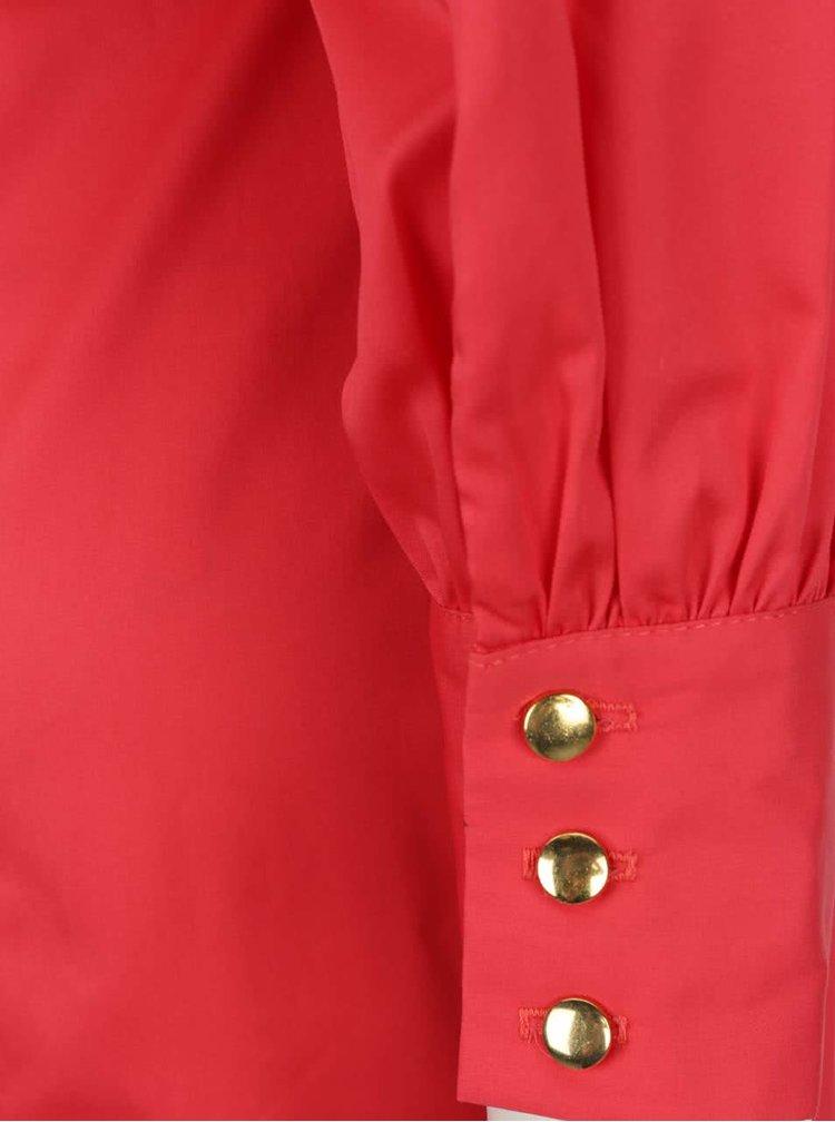 Rochie bodycon roșie Closet cu volane ample