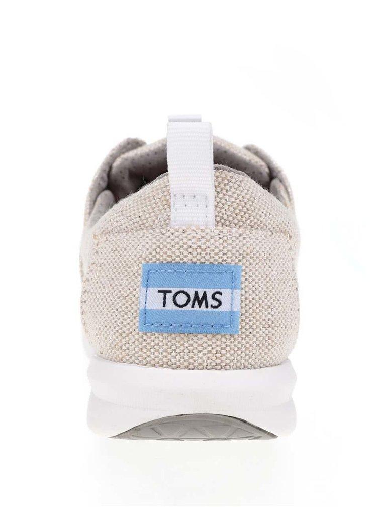Béžové lesklé dámské tenisky TOMS