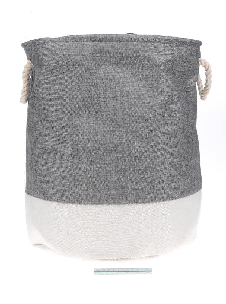 Krémovo-šedý extilní koš Dakls