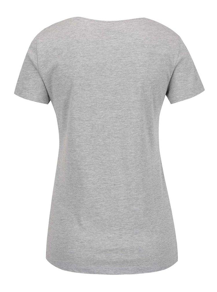 Světle šedé tričko s nápisem Noisy May Axel