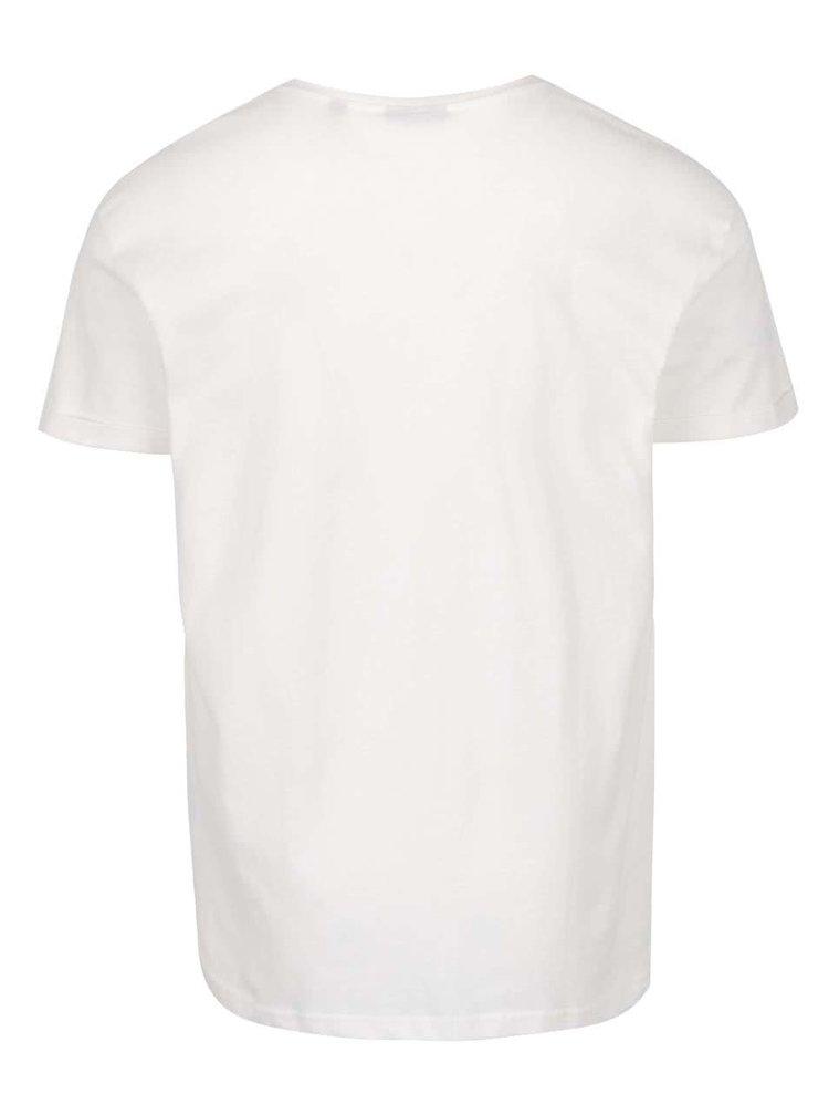 Krémové pánské oversize triko s potiskem Broadway Damian