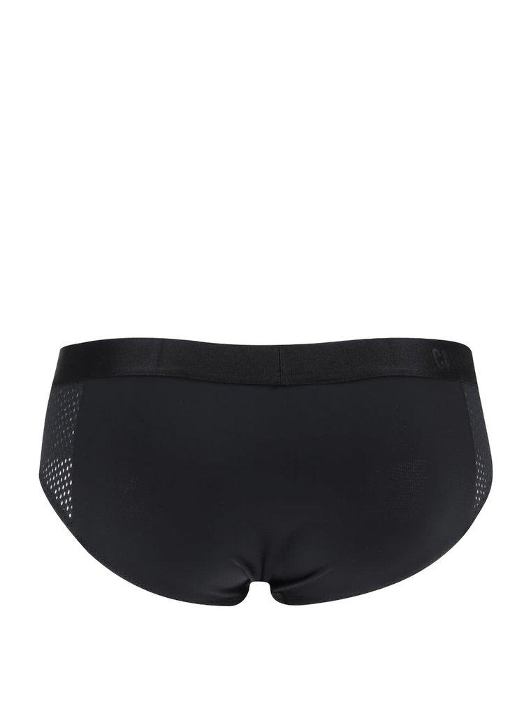 Černý spodní díl plavek s perforovanými detaily Calvin Klein