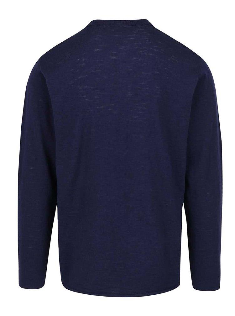 Tmavě modré pánské polo triko s dlouhým rukávem Broadway Dash