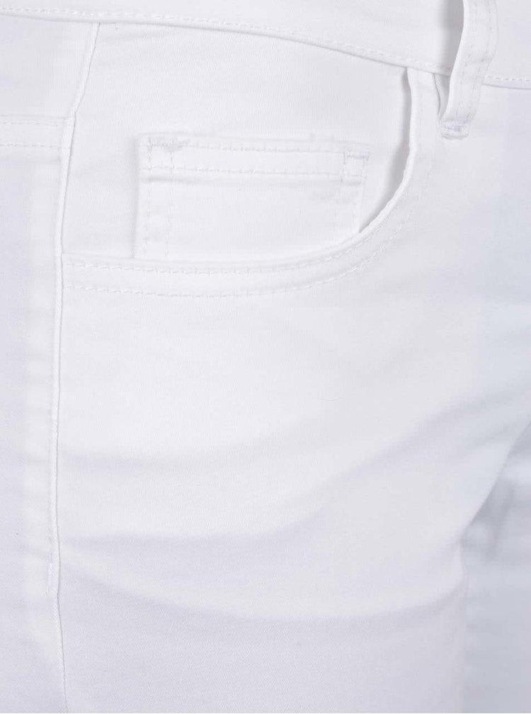 Bílé dámské 3/4 kalhoty s příměsí juty Broadway Kenzie