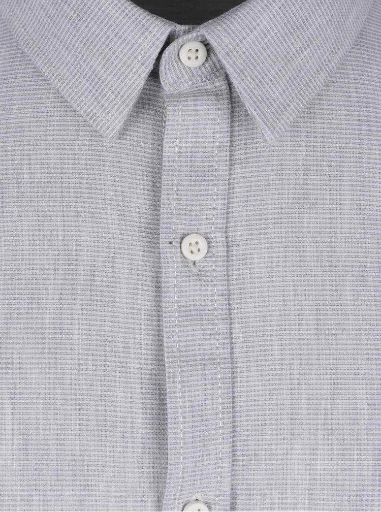 Světle šedá pánská košile Broadway Devyn
