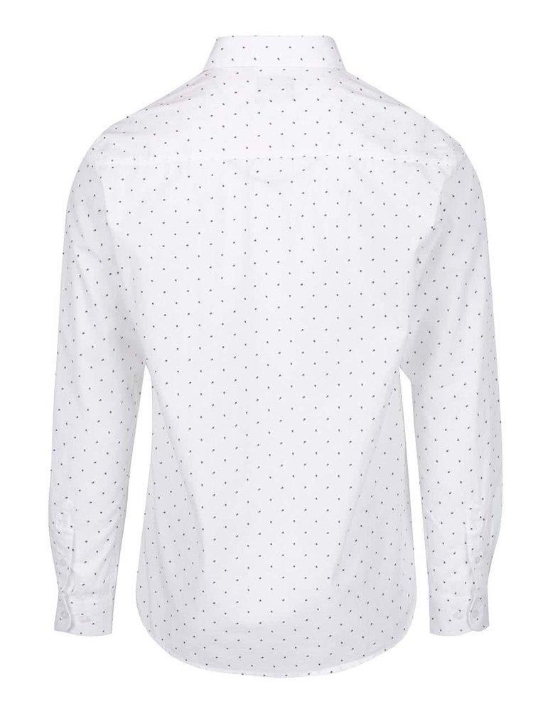 Krémová puntíkovaná pánská košile Broadway Draven