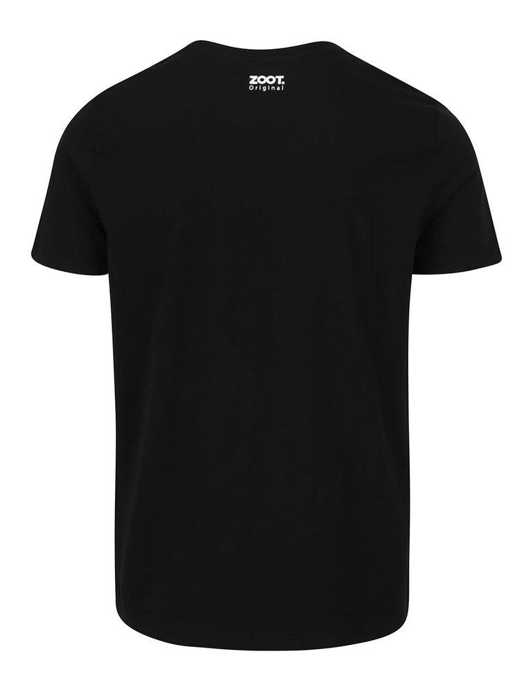 Černé pánské triko s bílým napisem  ZOOT Originál Harry jdu do baráku