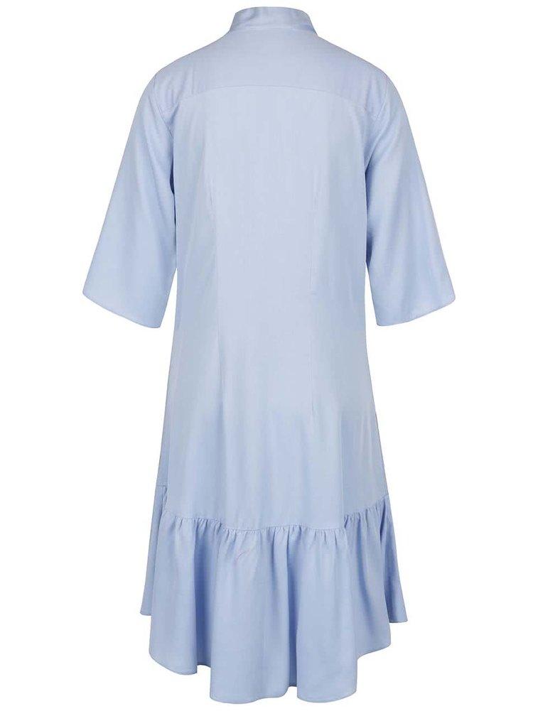 Světle modré volné šaty s vázankou Closet