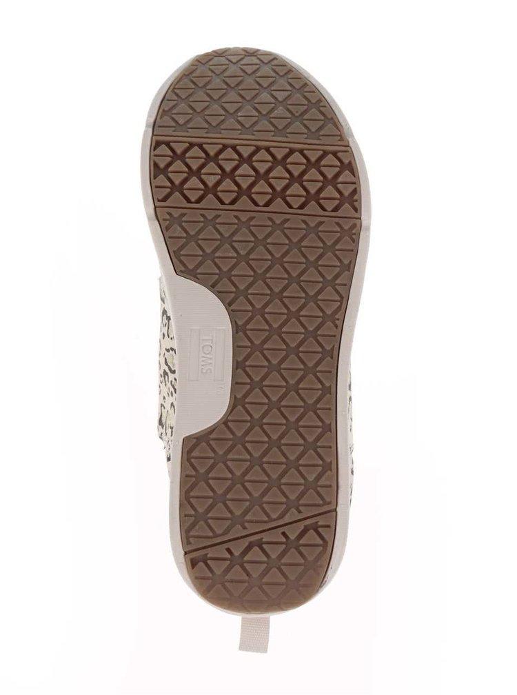 Pantofi sport crem pentru femei Toms Bobcat cu imprimeu leopard