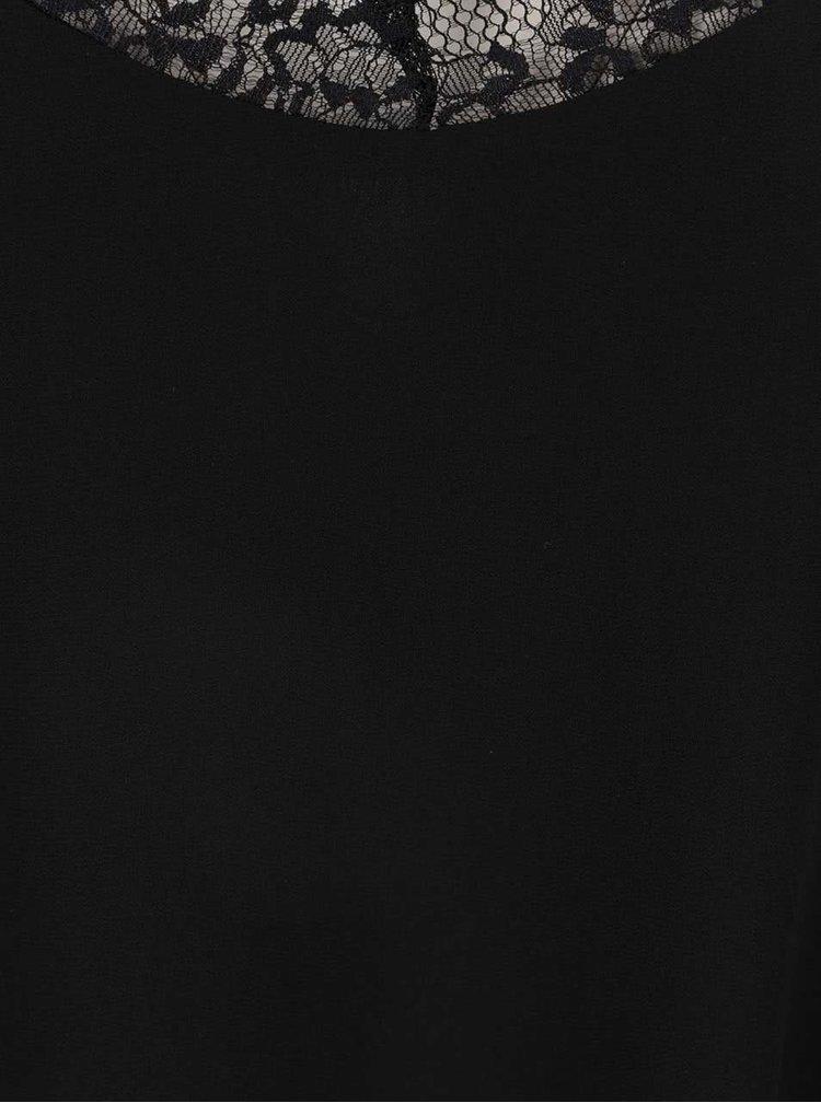 Top negru Haily´s Jessica cu detalii din dantelă