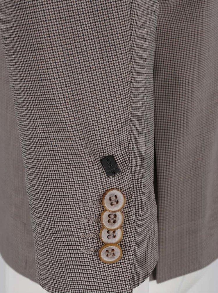 Béžové vlněné sako Bertoni Augustenborg