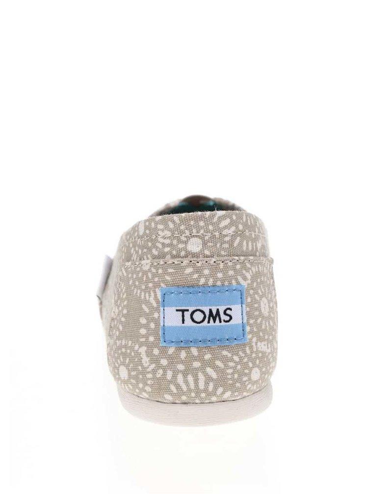 Béžové dámské vzorované slip on TOMS Shibori