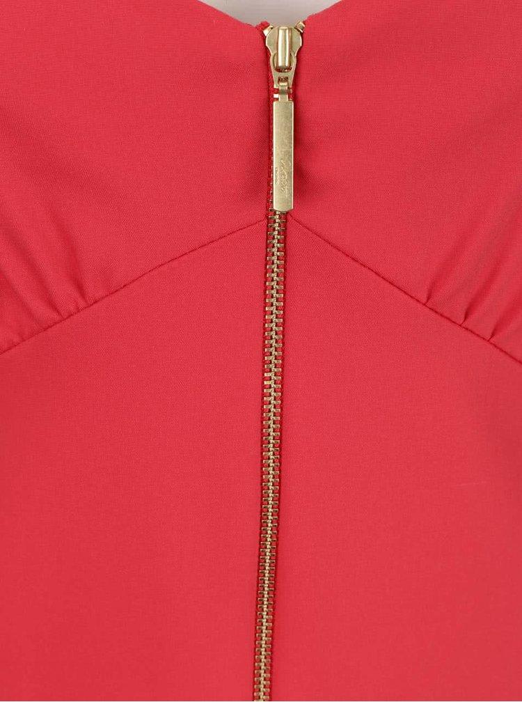 Červené šaty na ramínka se zipem Closet