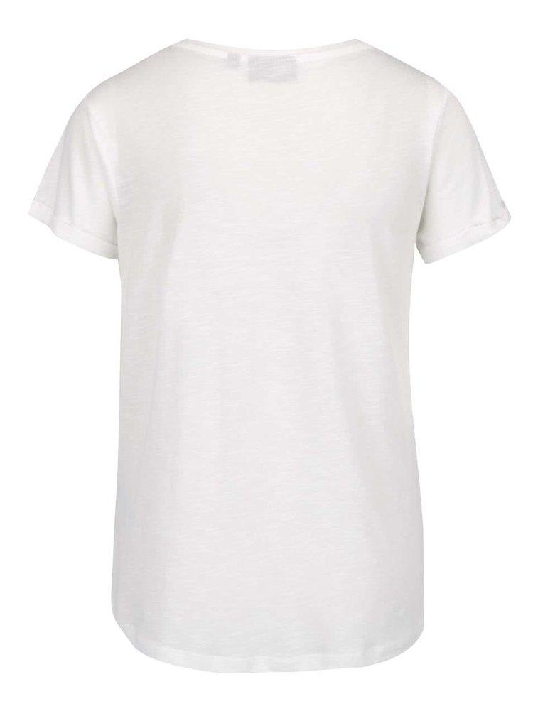 Bílé dámské tričko s potiskem slona Broadway Ebony