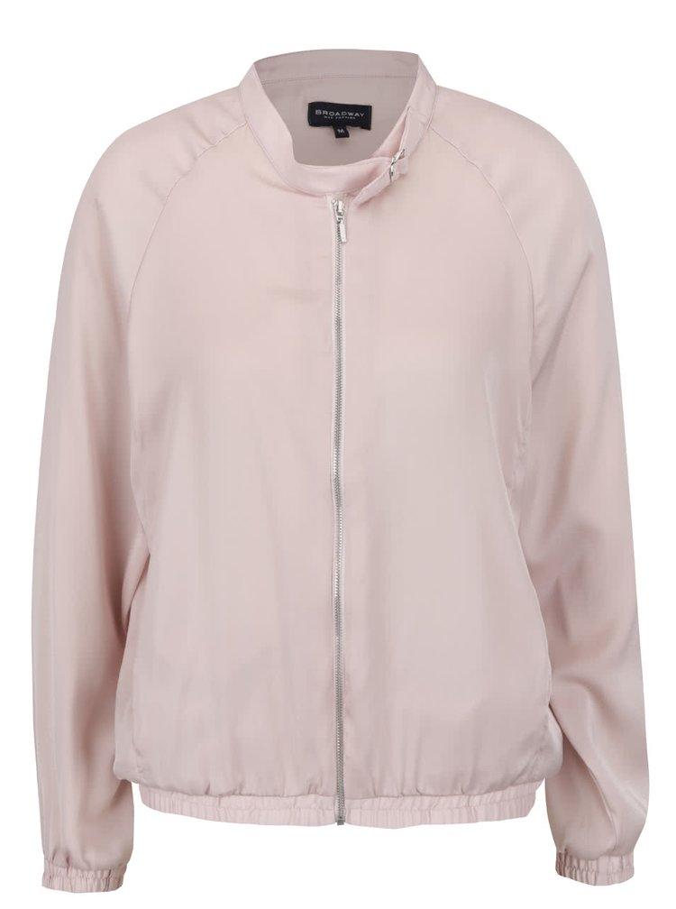 Jacheta roz pal Broadway Devanya cu guler la baza gatului