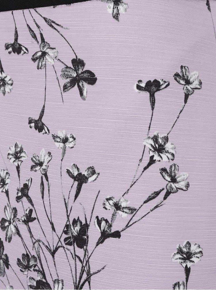 Fustă lila Miss Selfridge cu imprimeu floral