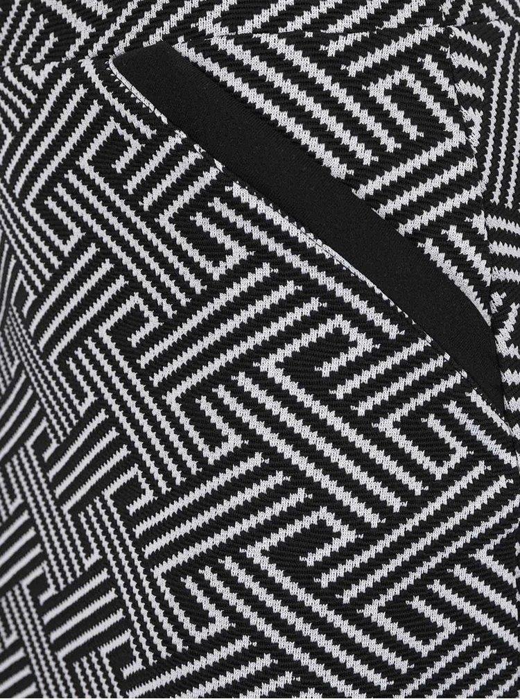 Fusta crem&negru Miss Selfridge cu imprimeu grafic