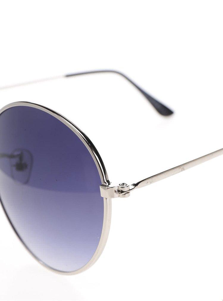 Sluneční brýle s obroučkami ve stříbrné barvě Haily´s Rondie