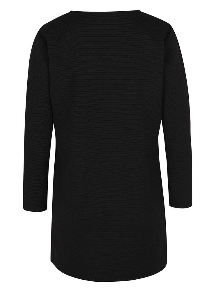 Černé žebrované sako Haily's Sandy