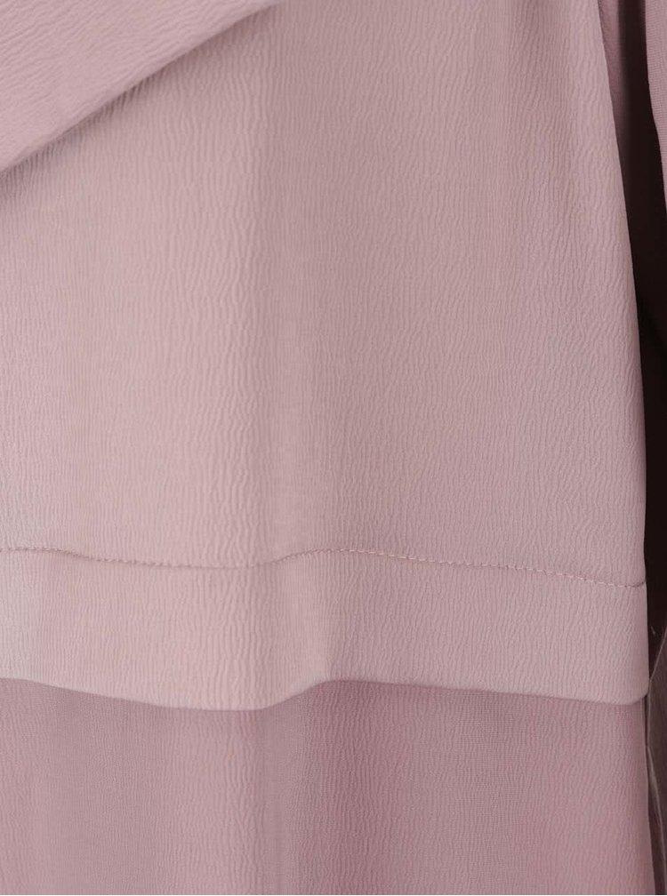 Starorůžový dlouhý kabát s detaily Miss Selfridge