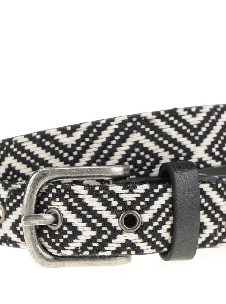 Krémovo-černý pásek Haily's Schwarz