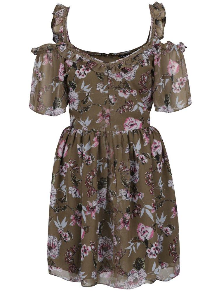 Rochie kaki Miss Selfridge cu imprimeu floral