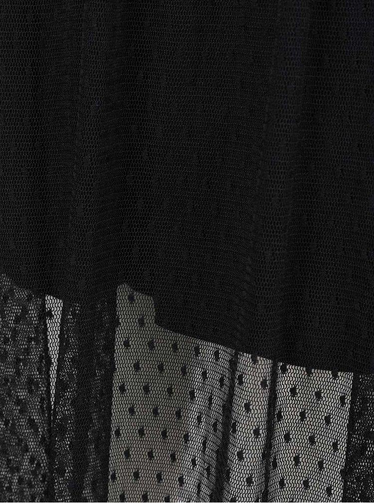 Černé šaty s průsvitnými detaily Miss Selfridge Petites