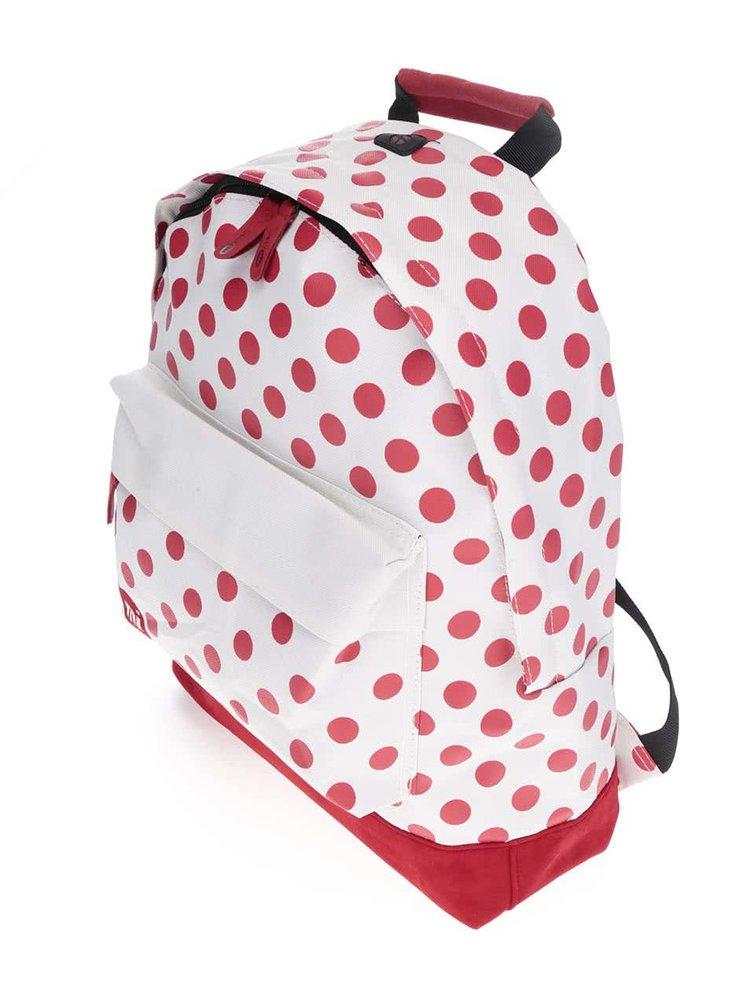 Červeno-krémový dámský puntíkovaný batoh Mi-Pac All Polka 17l