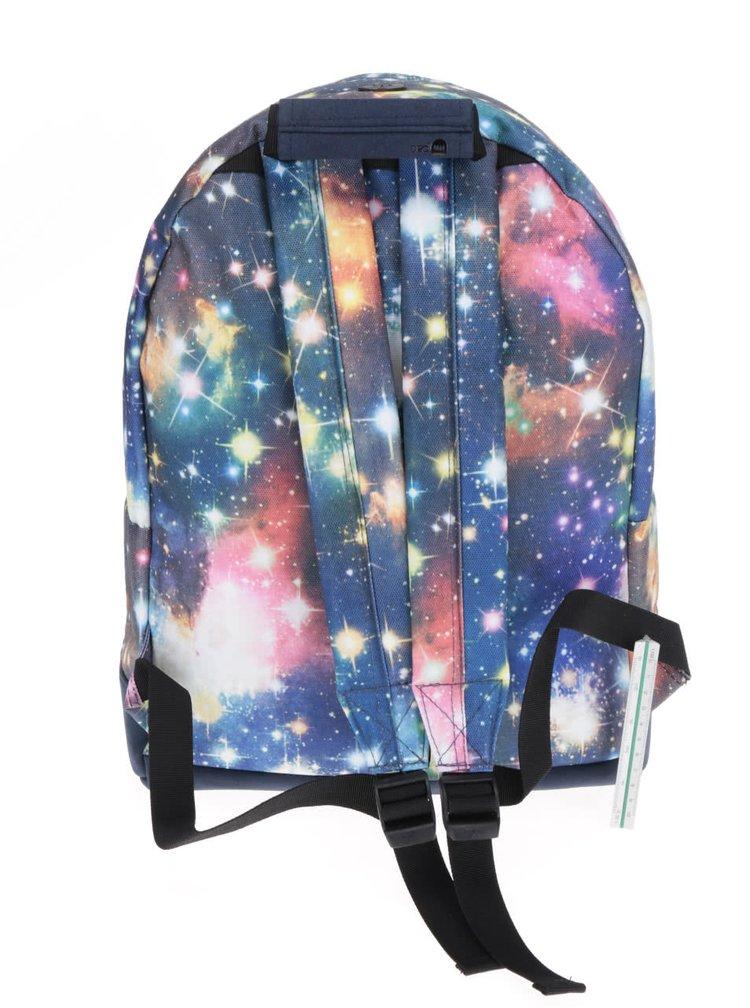 Tmavě modrý unisex batoh s vesmírným motivem Mi-Pac Galaxy 17l