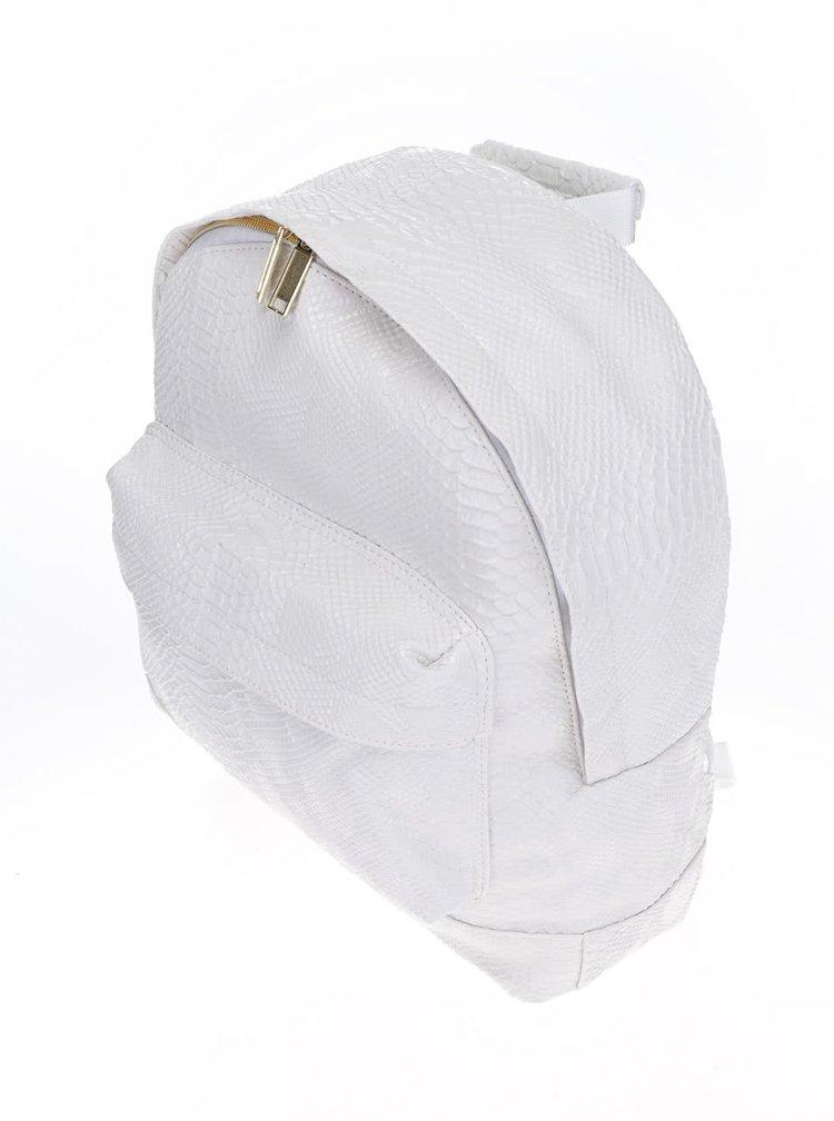 Krémový dámský batoh s imitací krokodýlí kůže Mi-Pac Patent python 17l