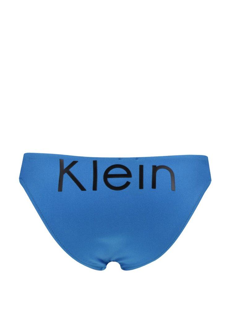 Slip de baie albastru Calvin Klein cu decupaje laterale