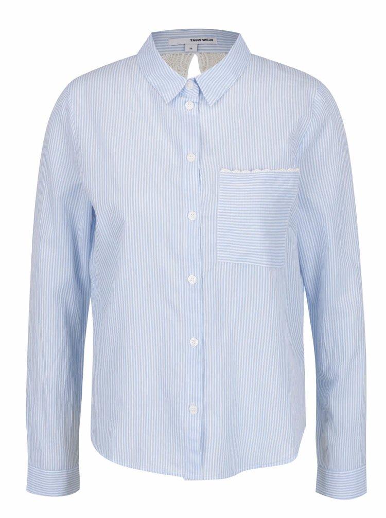 Camasa bleu cu decupaj si dantela la spate - TALLY WEiJL