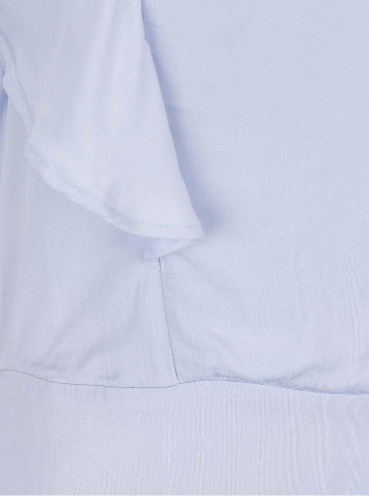 Světle modré šaty s volány Selected Femme Tora