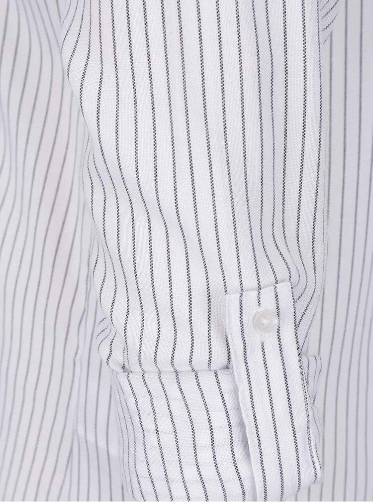 Černo-krémová pruhovaná košile s výšivkou TALLY WEiJL