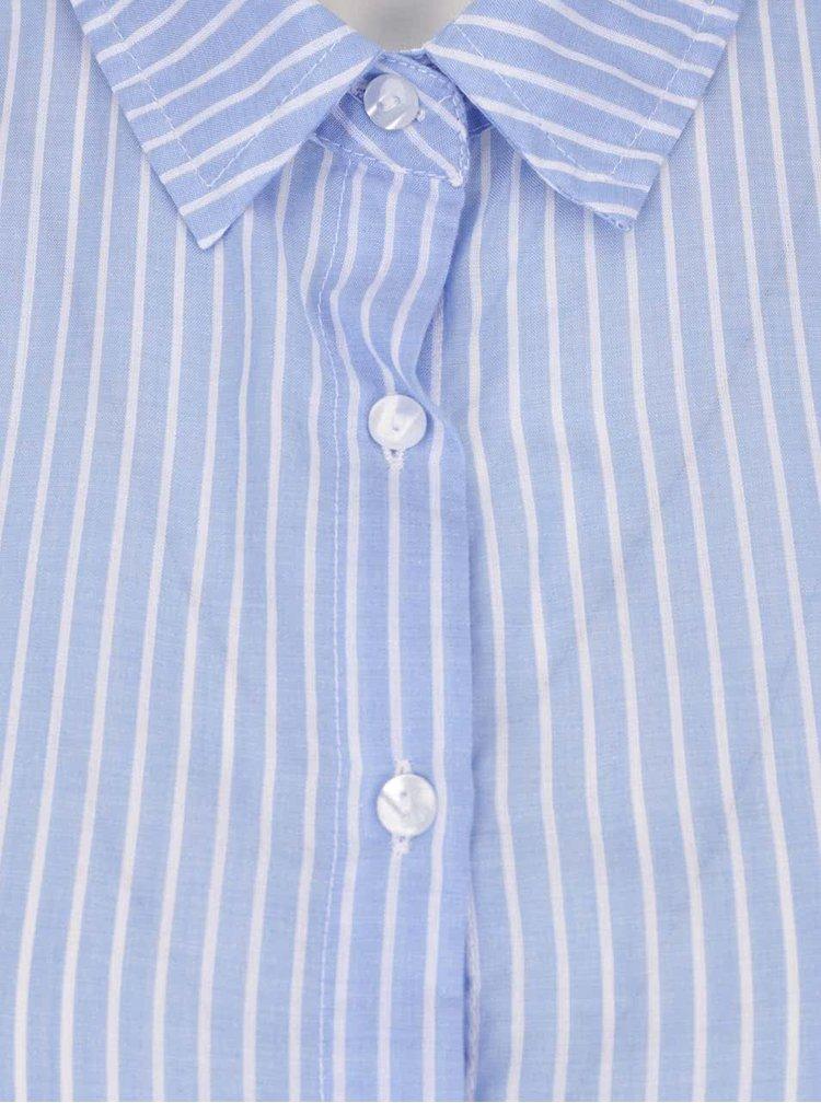 Krémovo-modrá pruhovaná košile s odhalenými zády TALLY WEiJL