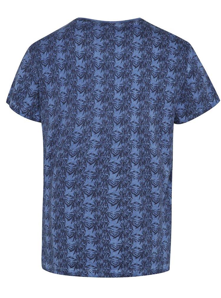 Modré vzorované triko Blend