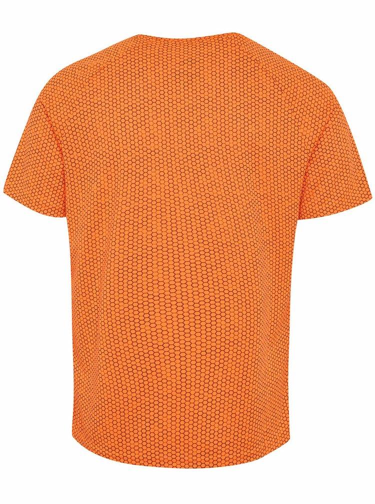 Tricou sport  portocaliu Blend cu model honeycomb