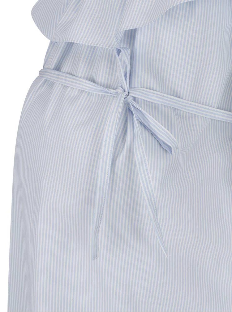 Rochie albastră Mama.licious Vitoria cu șnur decorativ