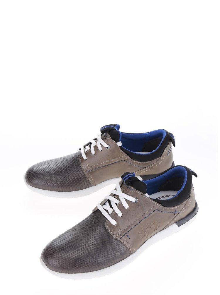 Pantofi sport kaki s.Oliver din piele