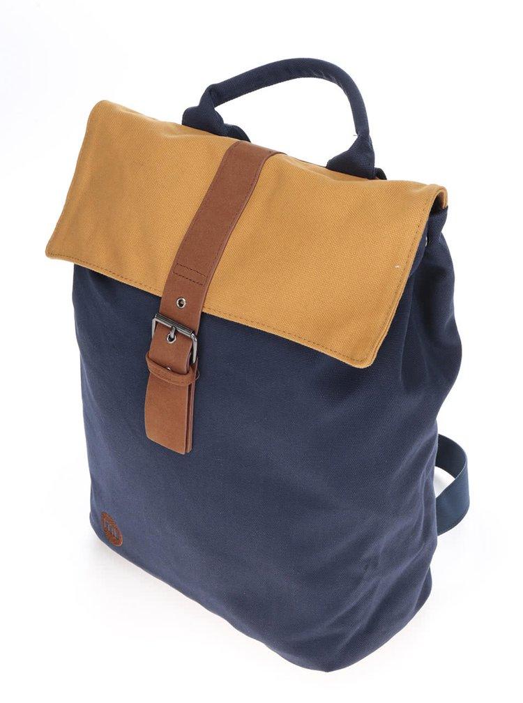 Hnědo-modrý unisex batoh s hnědými detaily Mi-Pac Tonal Canvas 20l