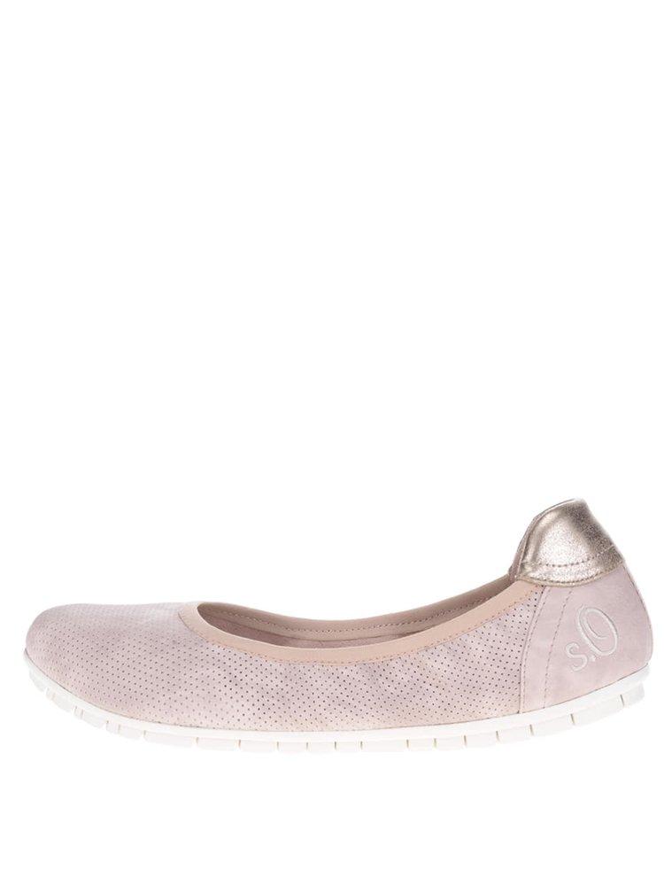 Světle růžové baleríny s.Oliver
