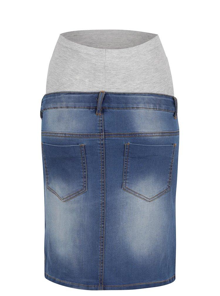 Modrá džínová těhotenská sukně Mama.licious Ninety