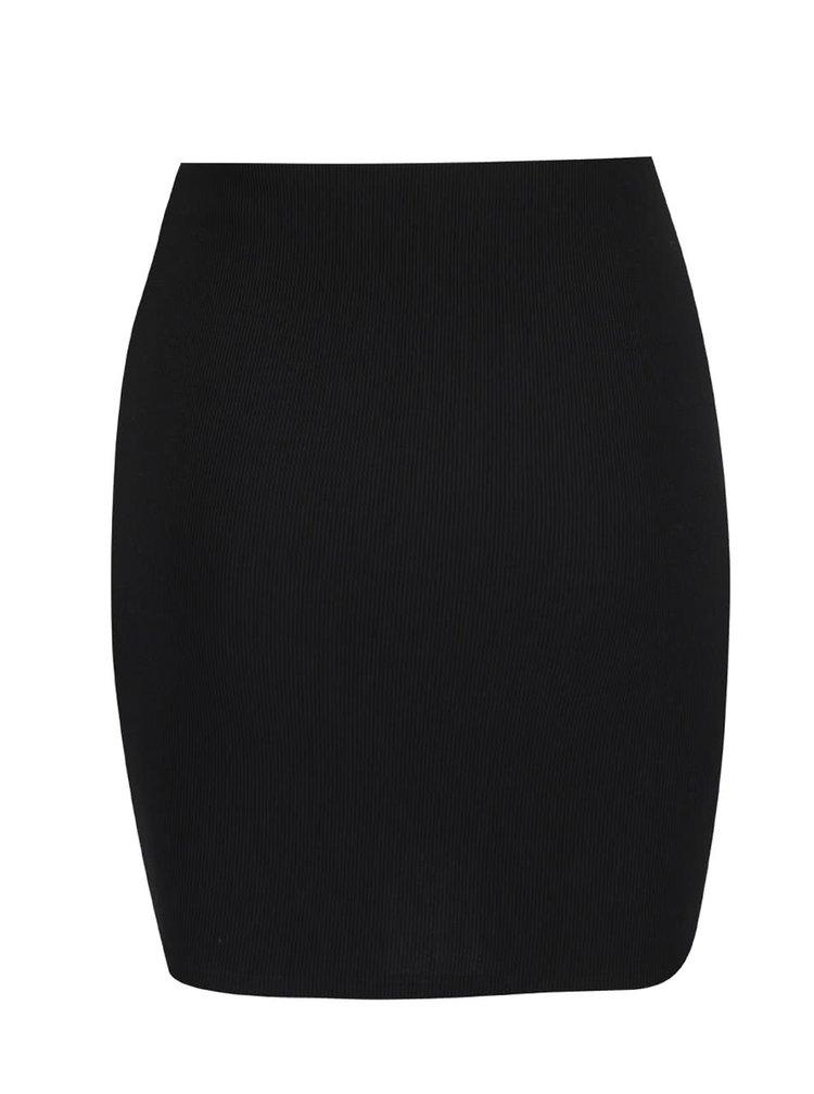 Černá žebrovaná sukně TALLY WEiJL