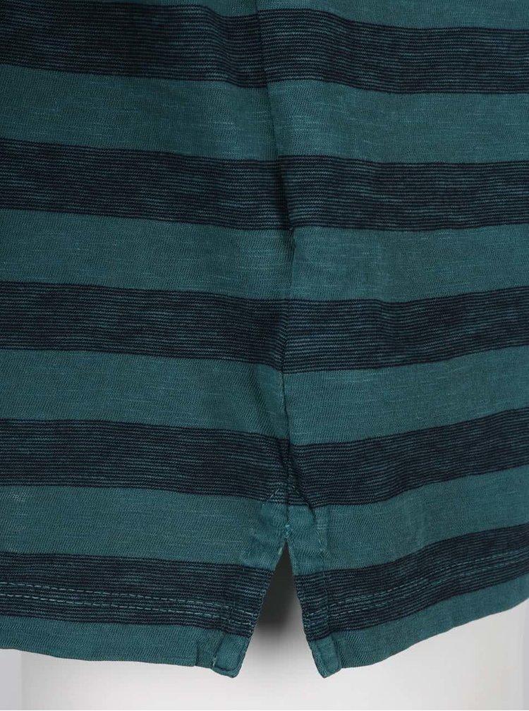 Tmavě zelené pruhované polo triko Fynch-Hatton