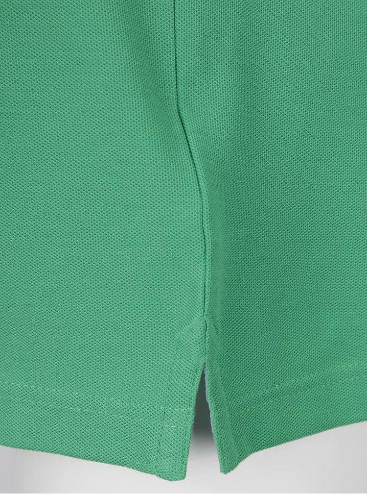Tricou polo verde Fynch-Hatton din bumbac cu logo