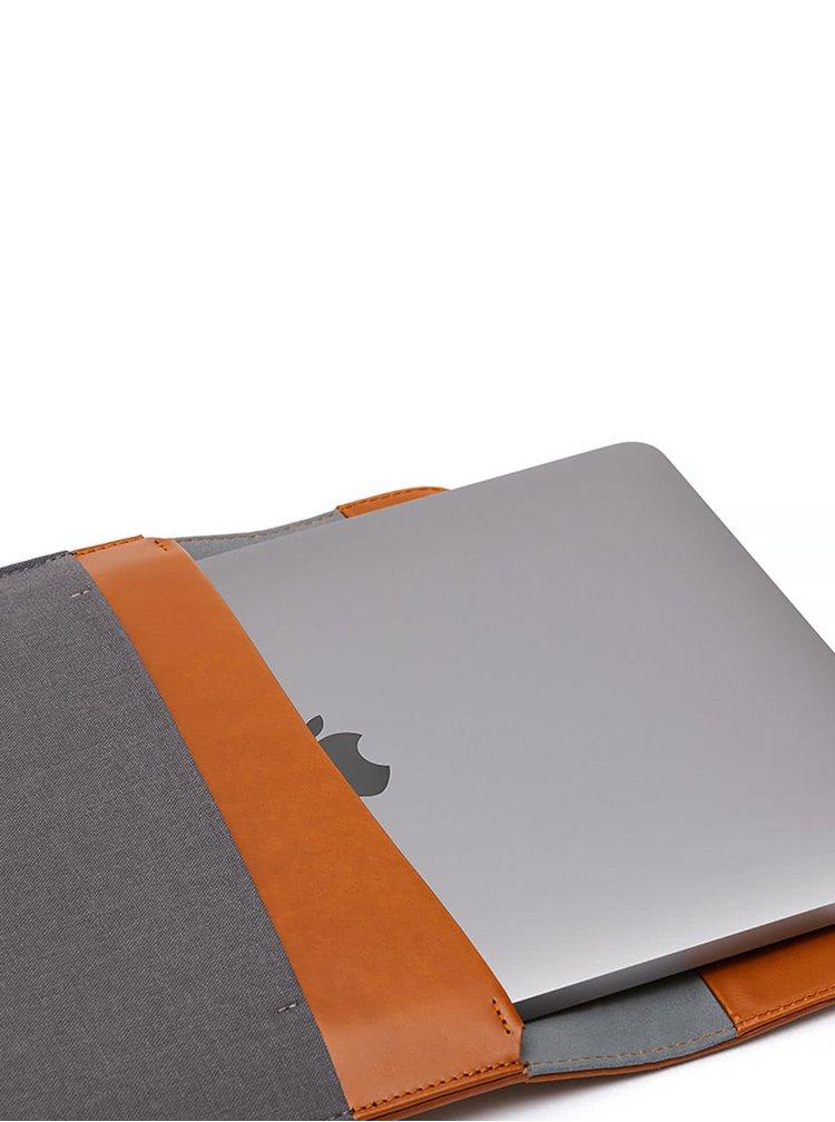 """Husă maro & gri Bellroy Laptop Sleeve Extra 15"""" cu detalii din piele"""