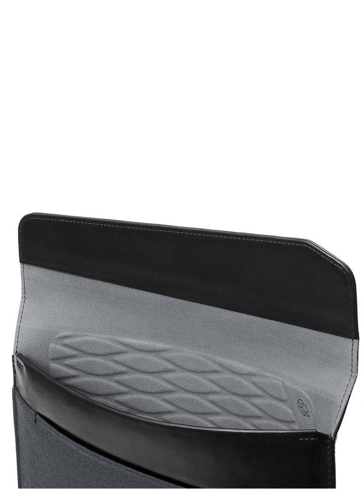 "Černo-šedý obal na notebook s koženými detaily Bellroy Laptop Sleeve Extra 15"""