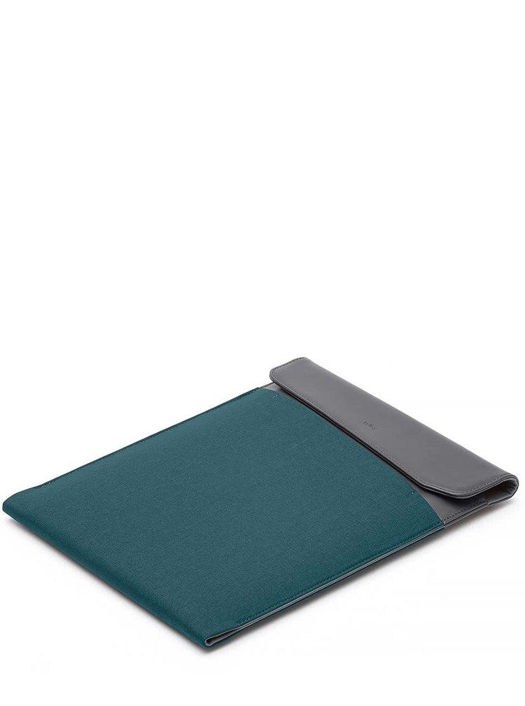 """Husă verde & gri Bellroy Laptop Sleeve Extra 15"""" cu detalii din piele"""